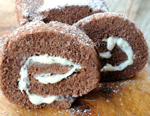 Rotolo al cacao con crema alla ricotta e mascarpone