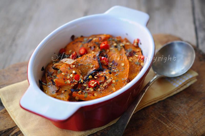 Zucca al forno arrostita piatto leggero vickyart arte in cucina