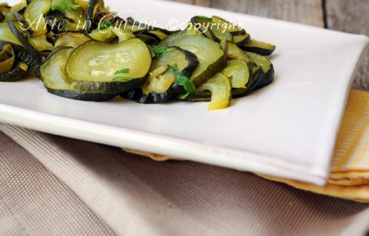 Zucchine trifolate contorno facile veloce leggero