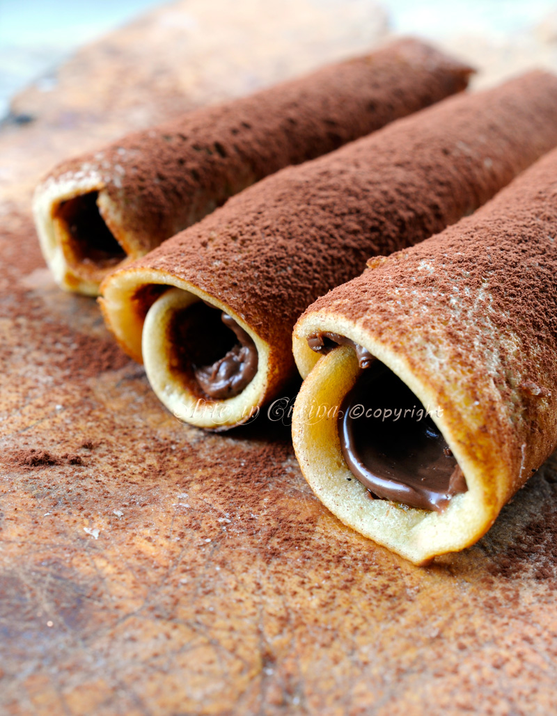 Cannoli di pancake alla nutella ricetta veloce vickyart art arte in cucina