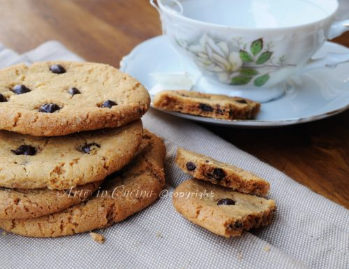 Cookies americani ricetta biscotti con cioccolato