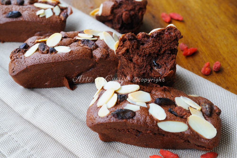 Mini plumcake solo albumi cioccolato frutta secca bacche vickyart arte in cucina