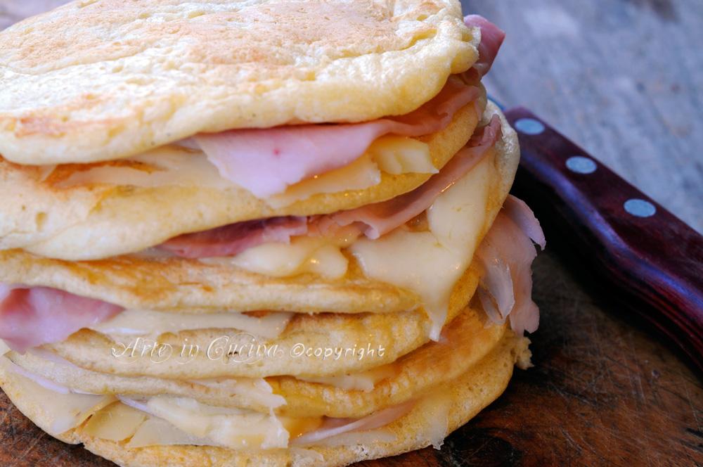Pancakes salati al formaggio farciti ricetta veloce vickyart arte in cucina
