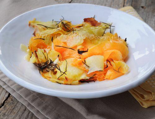 Patate e zucca con rosmarino al forno piatto leggero