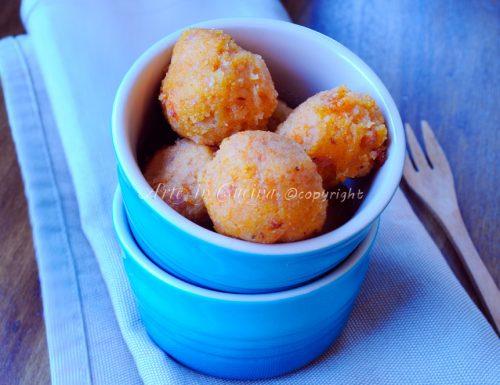 Polpette di zucca e prosciutto senza uova