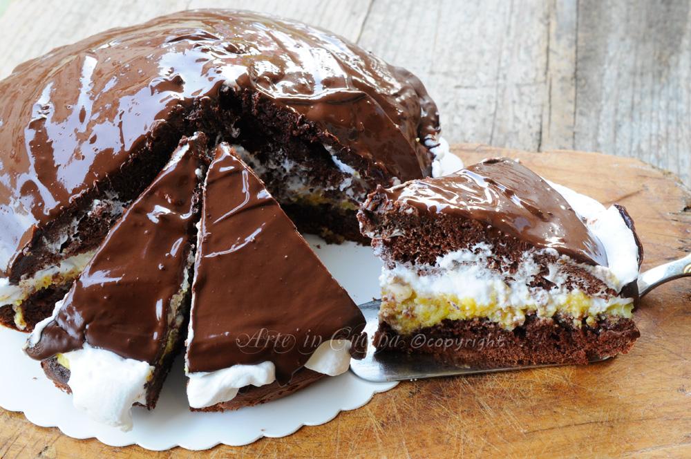 Torta al cioccolato e arancia con mascarpone vickyart arte in cucina