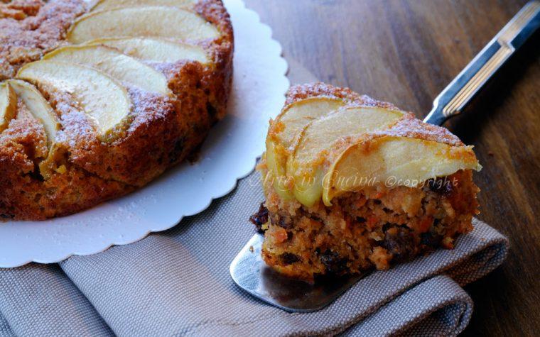 Torta di mele e carote integrale senza burro