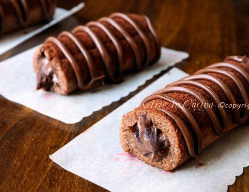 Cannoli di frolla alla nutella e cioccolato facili