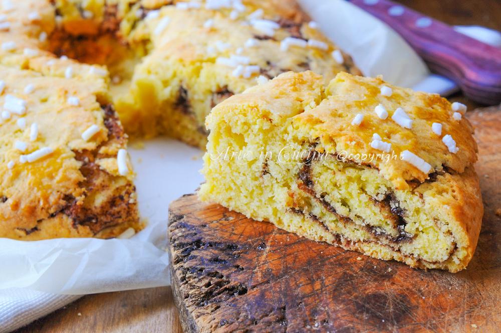 Ciambellone di frolla alla nutella morbido vickyart arte in cucina