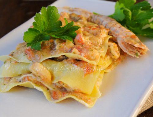 Lasagne di mare ricetta facile saporita