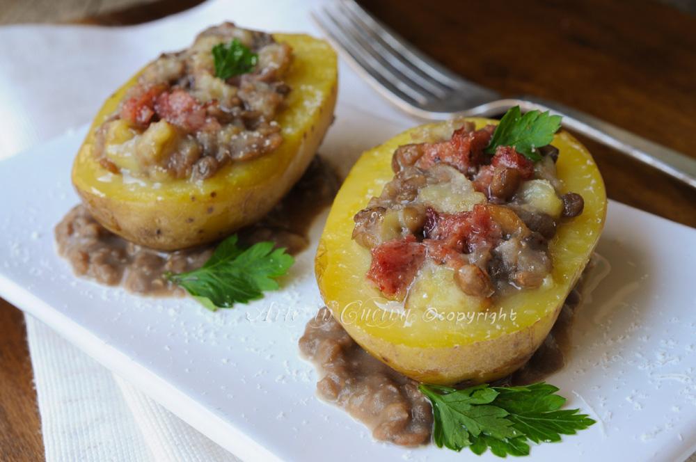 Patate ripiene di cotechino e lenticchie per capodanno vickyarte arte in cucina