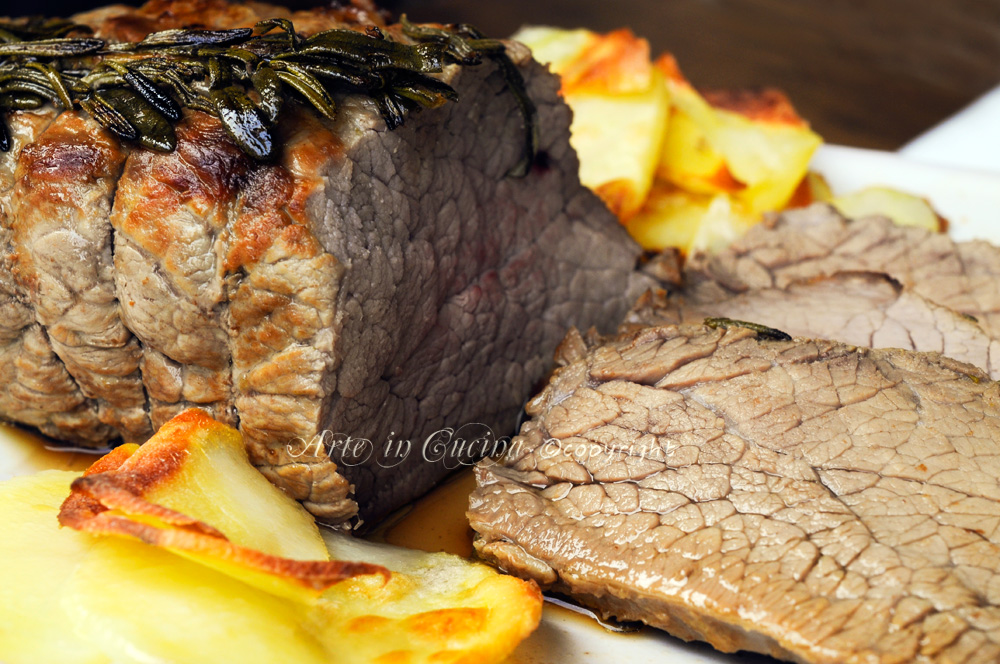 Roast beef al forno ricetta tradizionale vickyart arte in cucina