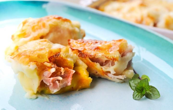 Rosette emiliane al forno prosciutto e formaggio