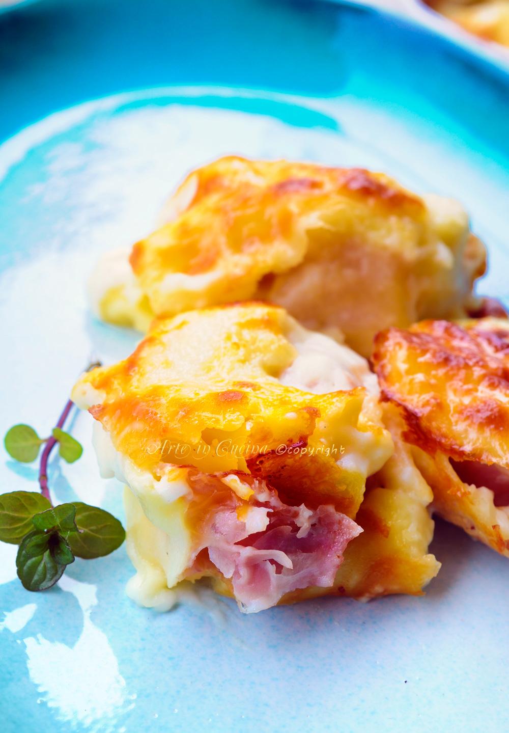 Rosette emiliane al forno prosciutto e formaggio vickyart arte in cucina