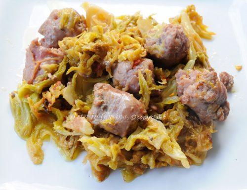 Salsicce e crauti in padella ricetta facile e veloce