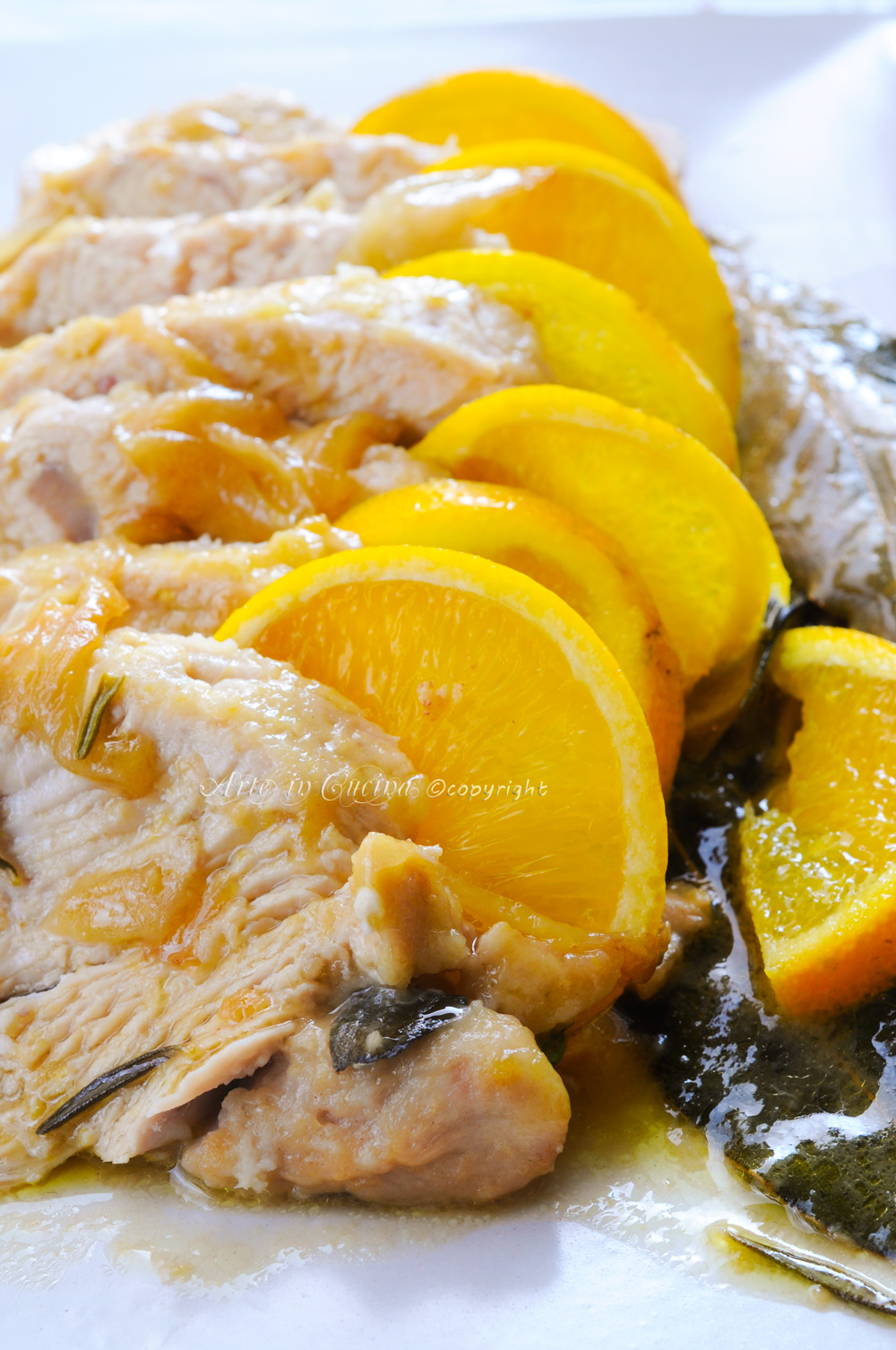 Tacchino all'arancia al forno ricetta facile vickyart arte in cucina