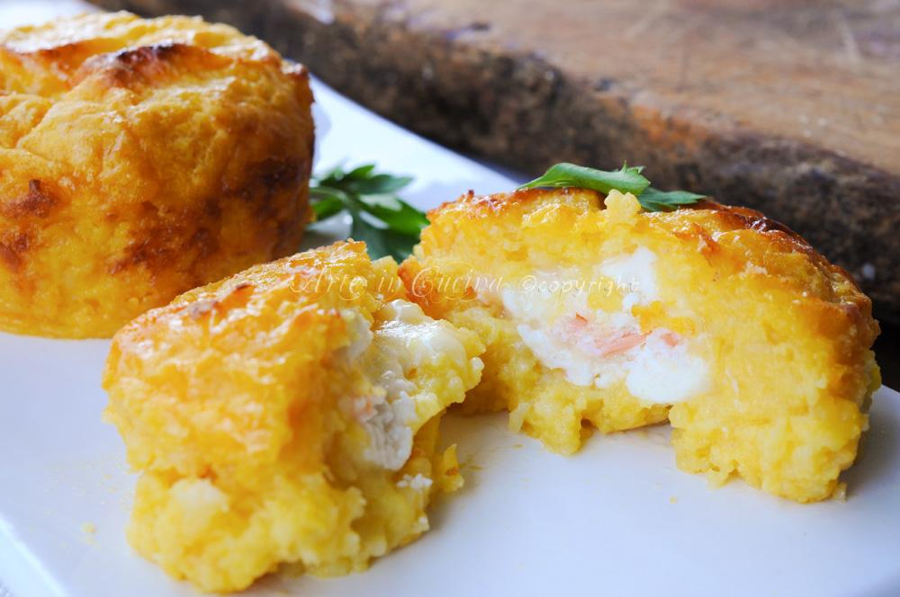 Tortini al salmone antipasti sfiziosi vickyart arte in cucina