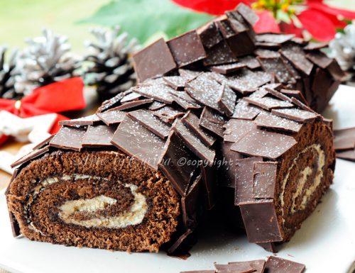 Tronchetto di Natale al tiramisu e nutella buche de noel
