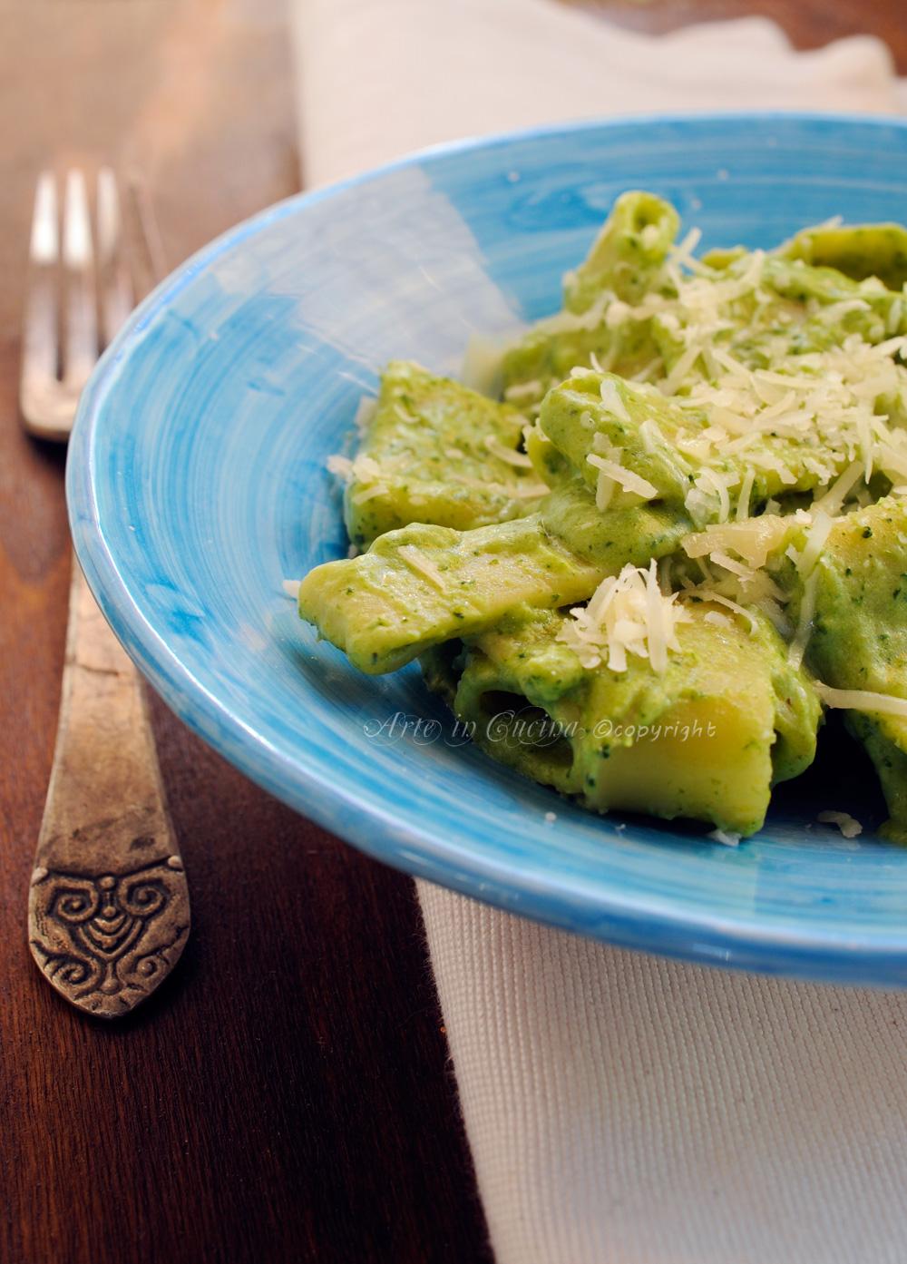 Calamarata con broccoli cremosa ricetta leggera vickyart arte in cucina