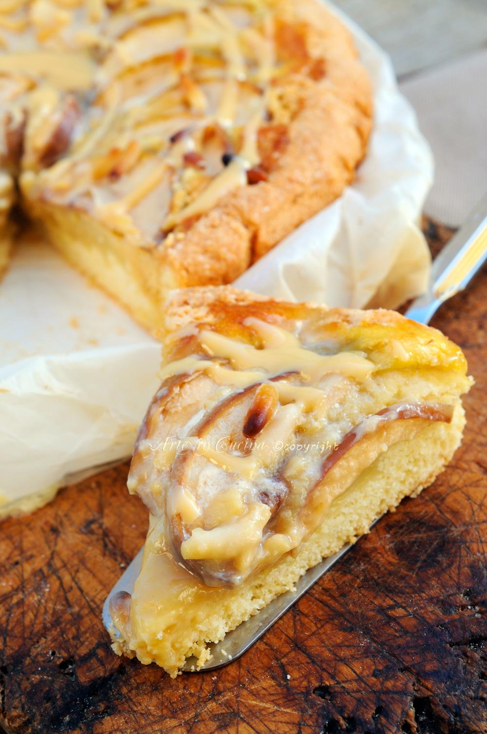 Crostata di mele crema pasticcera e caramello vickyart arte in cucina