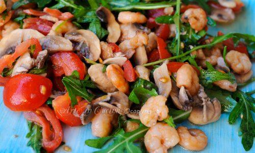 Insalata di funghi e gamberetti