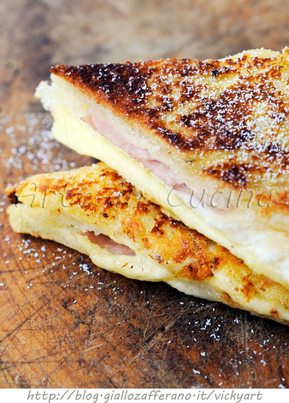 Monte Cristo sandwich ricetta facile e veloce vickyart arte in cucina