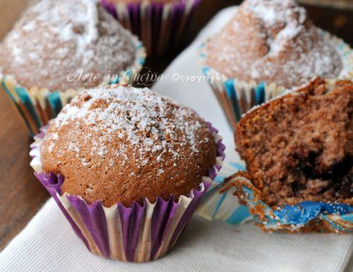 Muffin al mascarpone cuore di nutella e cioccolato