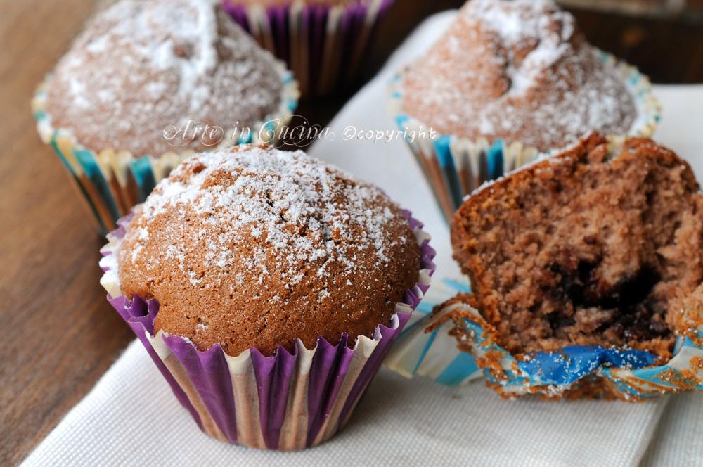 Muffin al mascarpone cuore di nutella e cioccolato vickyart arte in cucina