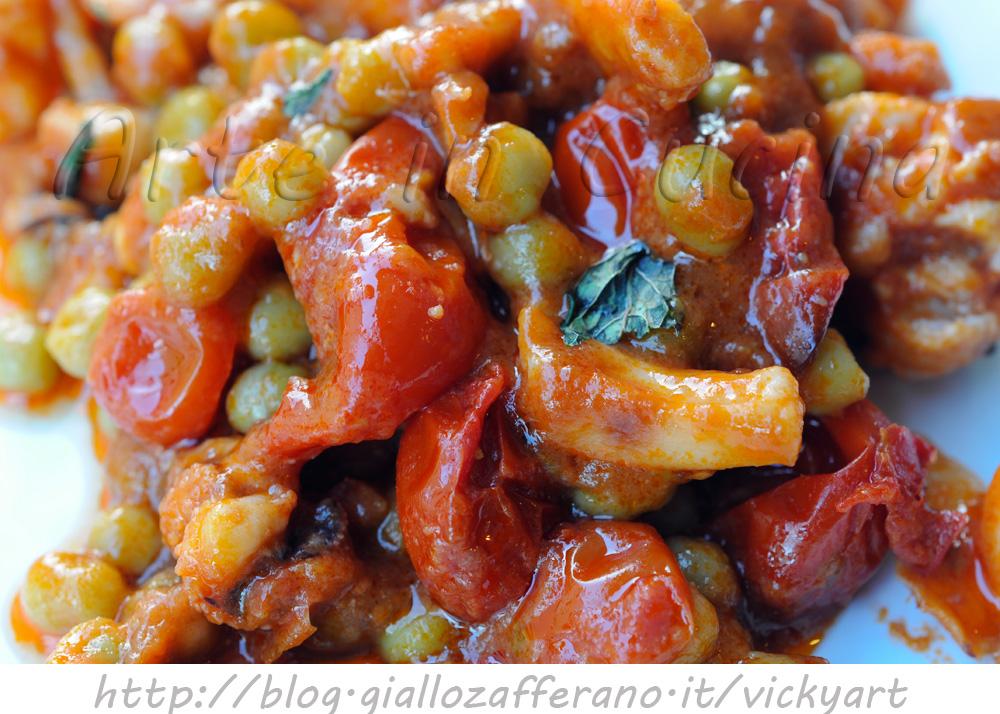 Seppie con piselli al pomodoro con bimby o senza vickyart arte in cucina