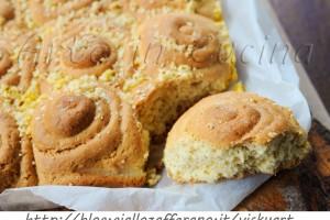 Torta morbida di girelle con pasta frolla all'arancia