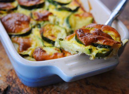 Tortino di zucchine al forno con uova ricetta leggera