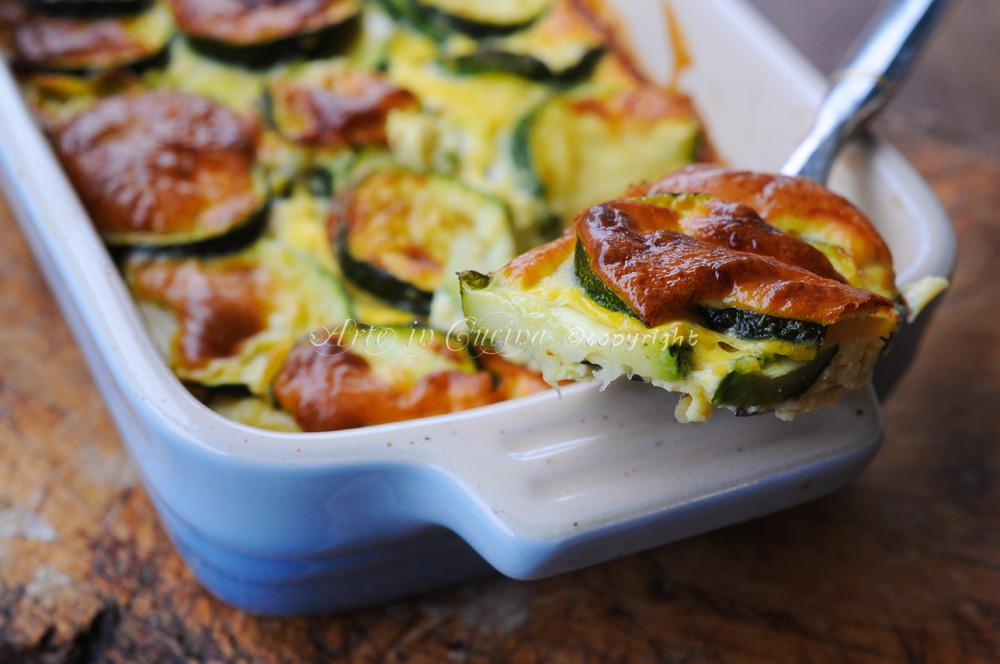 Tortino di zucchine al forno con uova ricetta leggera  Arte in Cucina