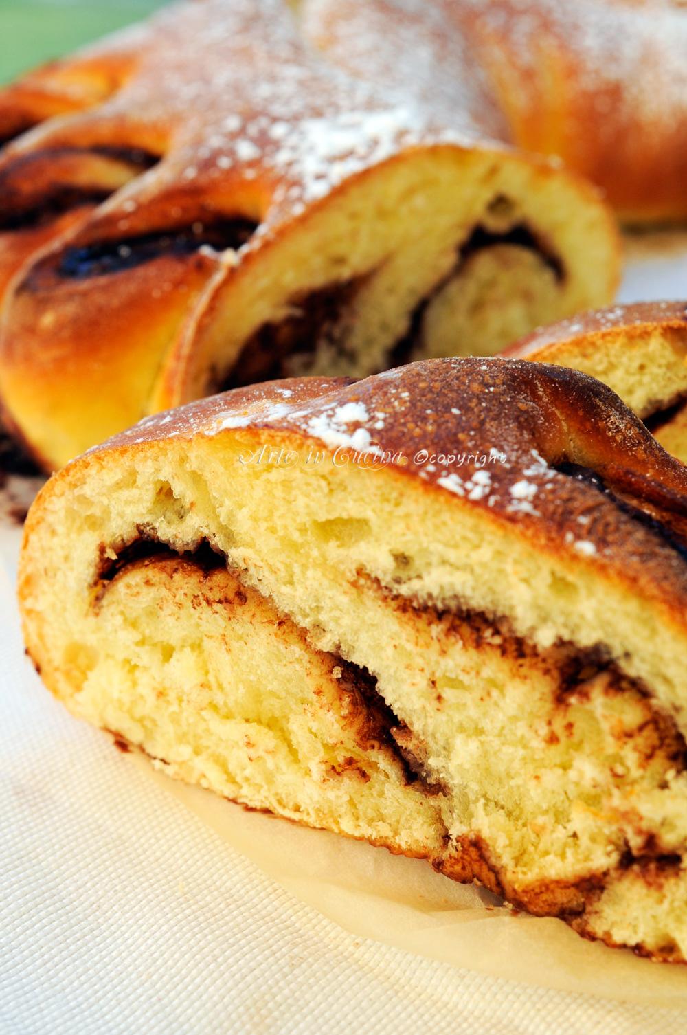 Ventaglio alla nutella pan brioche soffice vickyart arte in cucina
