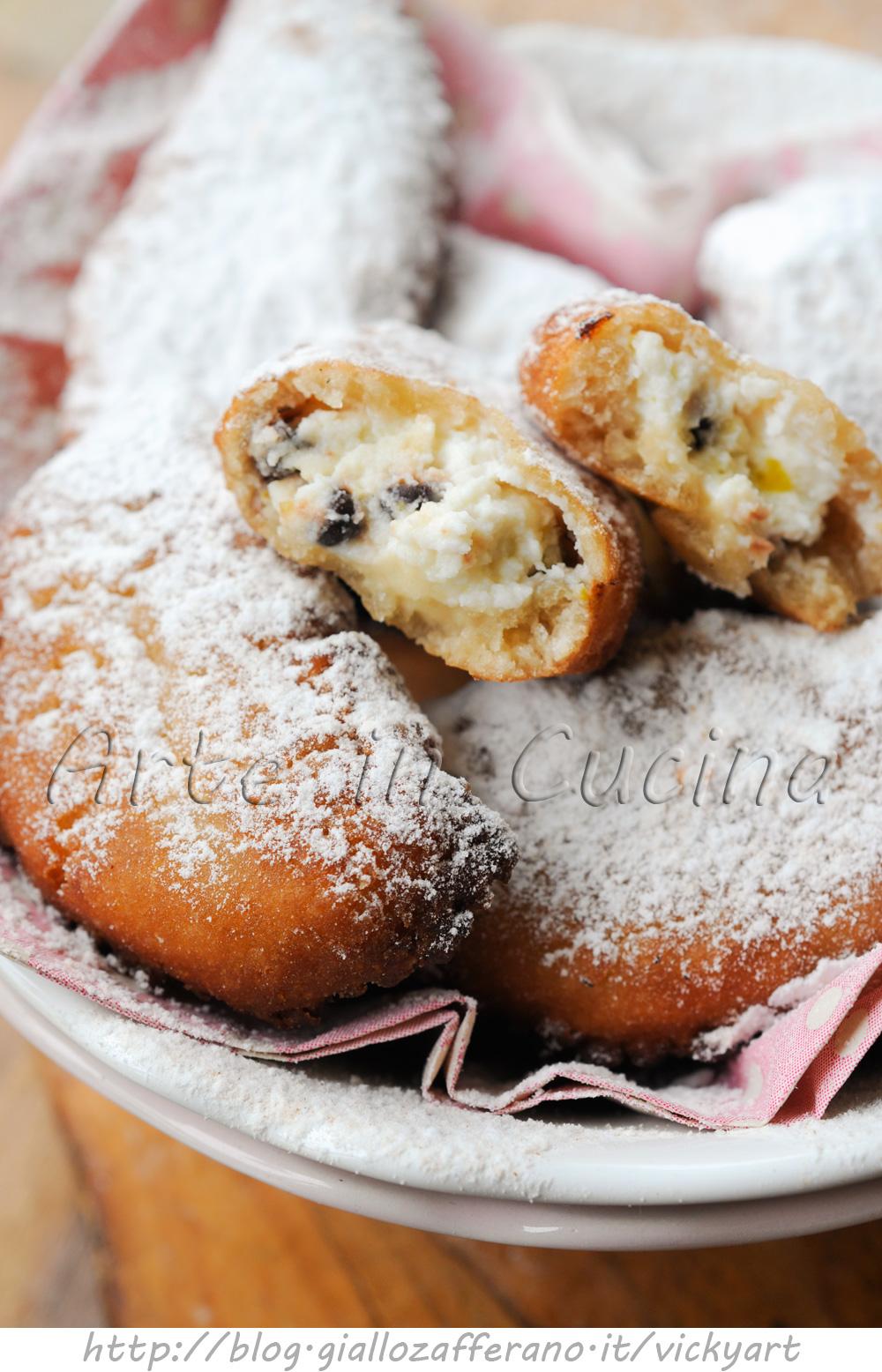 Cassatelle siciliane alla ricotta dolci di carnevale arte in cucina - Cucina macrobiotica dolci ...