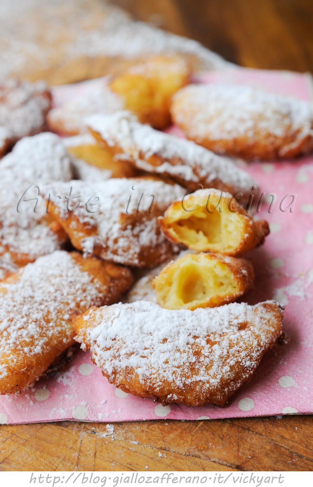 Chifelini di Carnevale ricetta dolce anche bimby vickyart arte in cucina