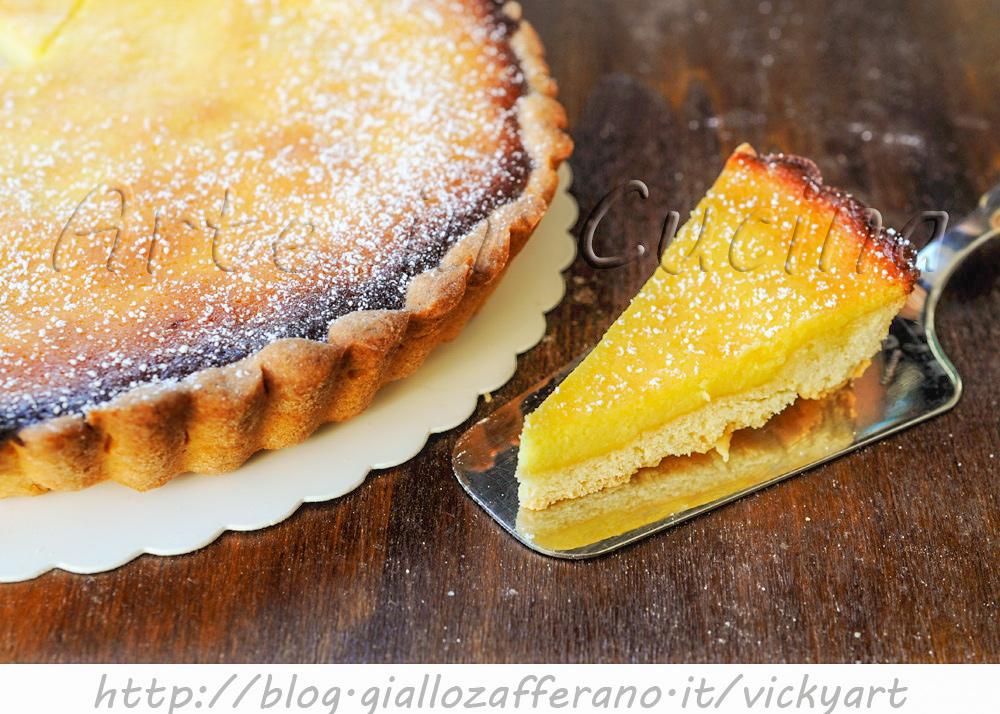 Crostata alla ricotta e limone anche bimby vickyart arte in cucina