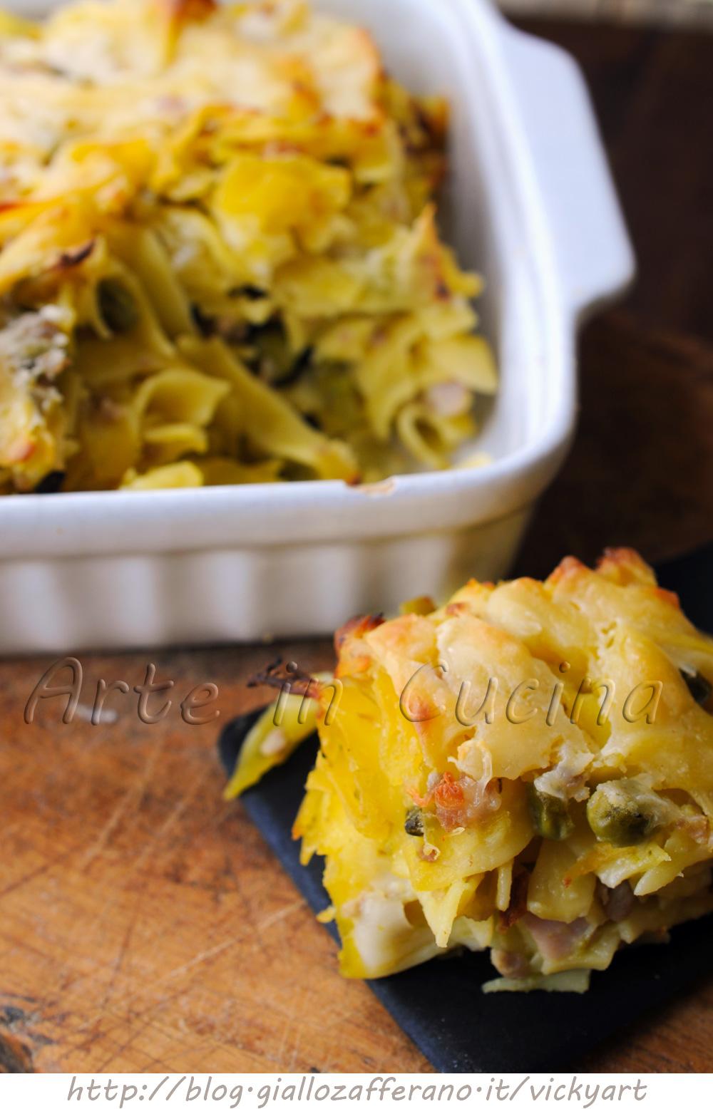 Crostata di tagliatelle in bianco ricetta napoletana vickyart arte in cucina