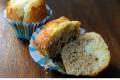Muffin al cappuccino bicolori con cioccolato bianco