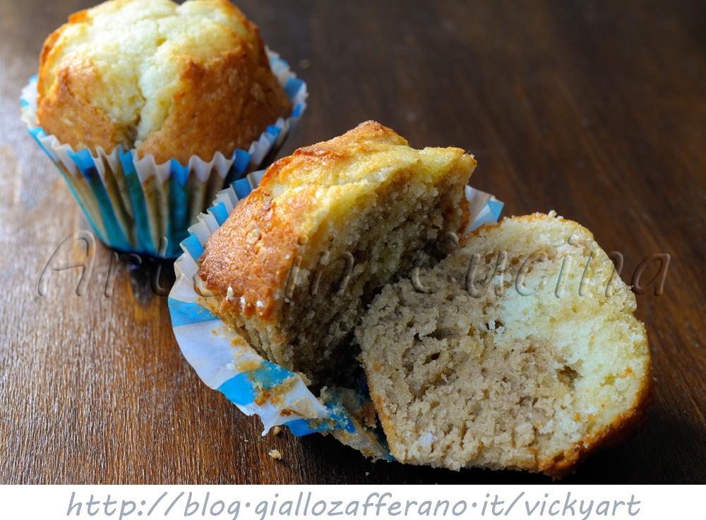 Muffin al cappuccino bicolori con cioccolato bianco vickyart arte in cucina
