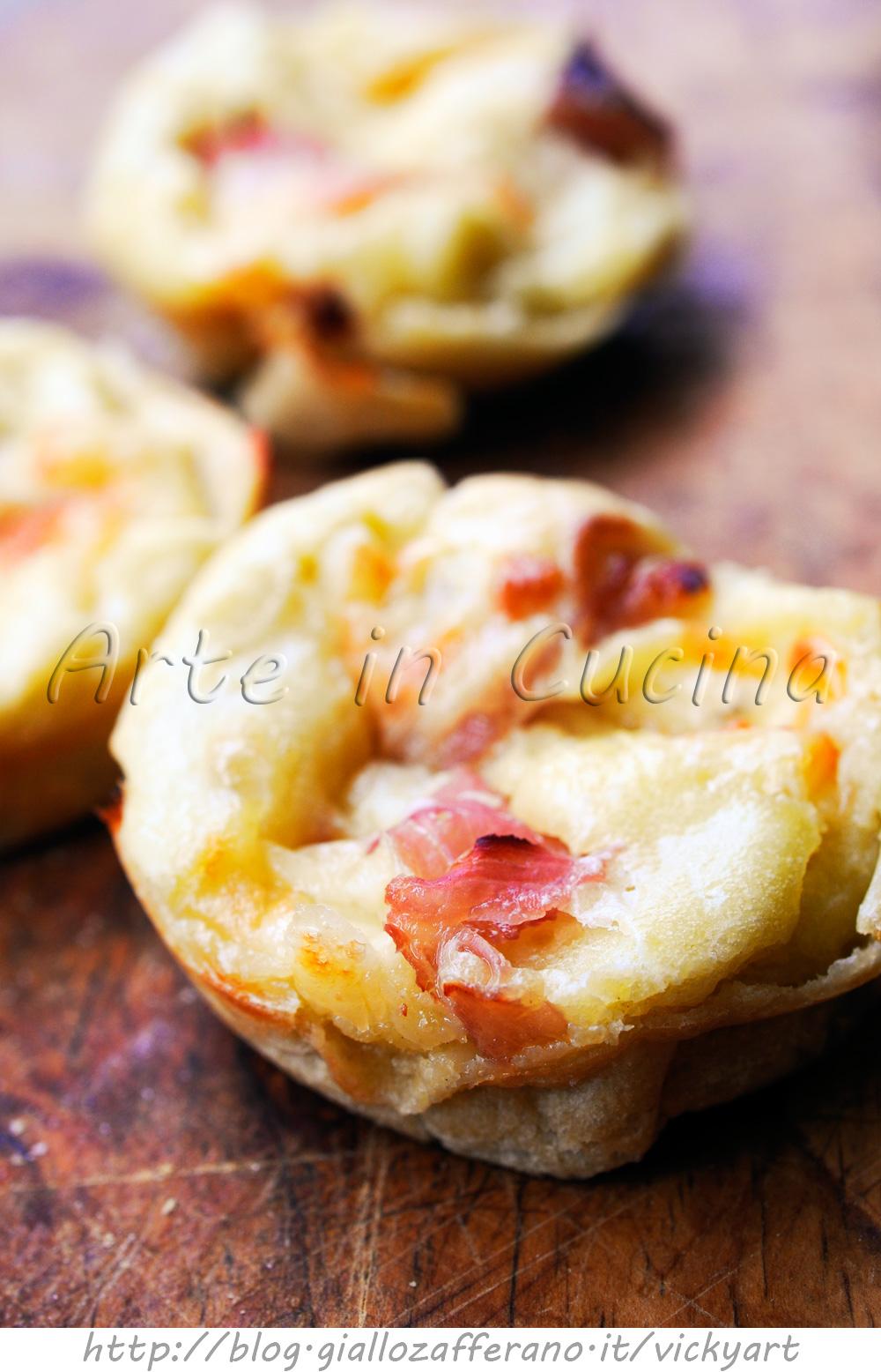 Muffin salati di pancake con prosciutto e scamorza vickyart arte in cucina