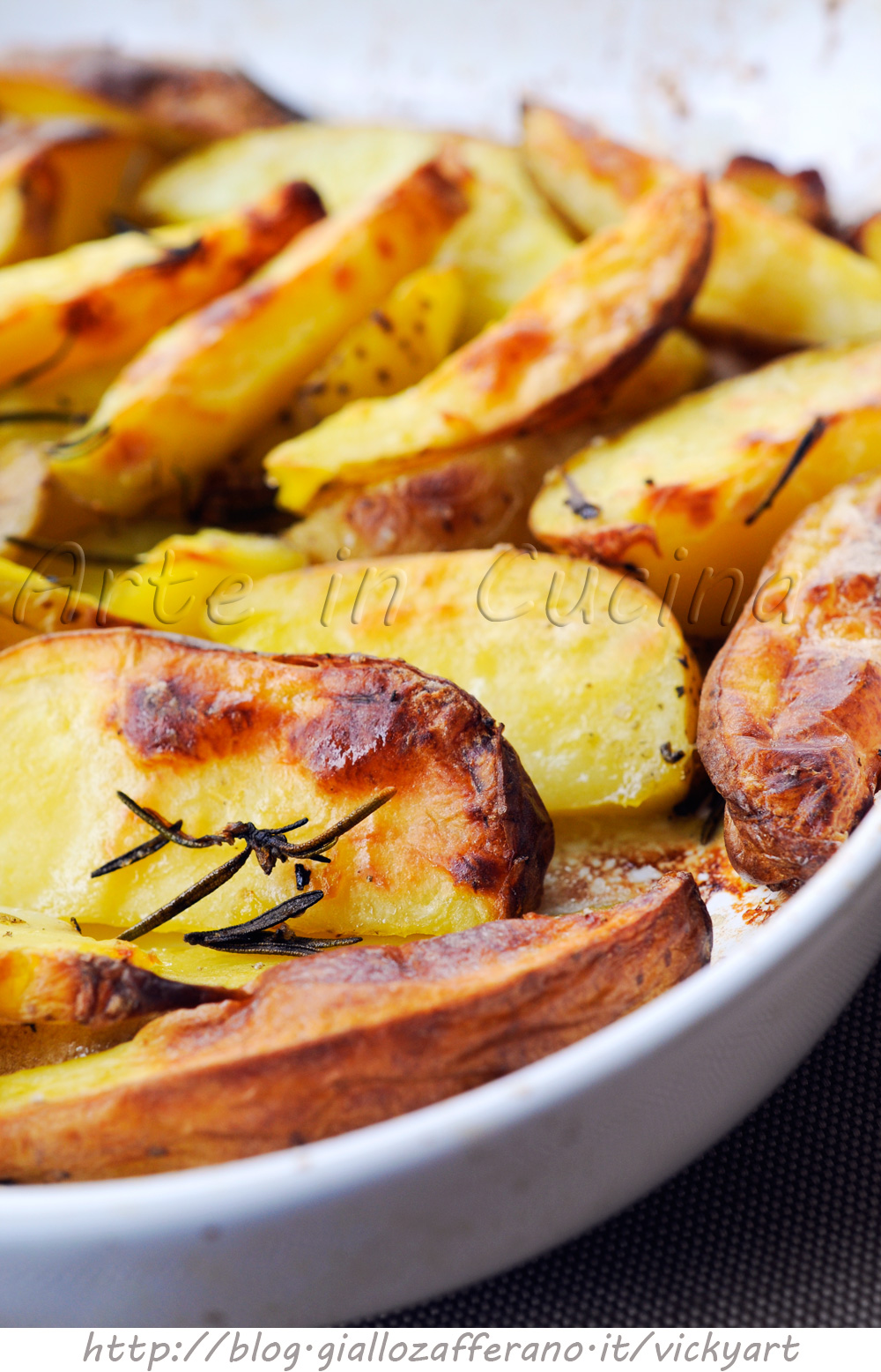Patate croccanti al forno con rosmarino veloci vickyart arte in cucina