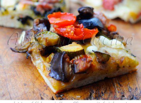 Pizza ortolana a lievitazione lenta bassa e soffice
