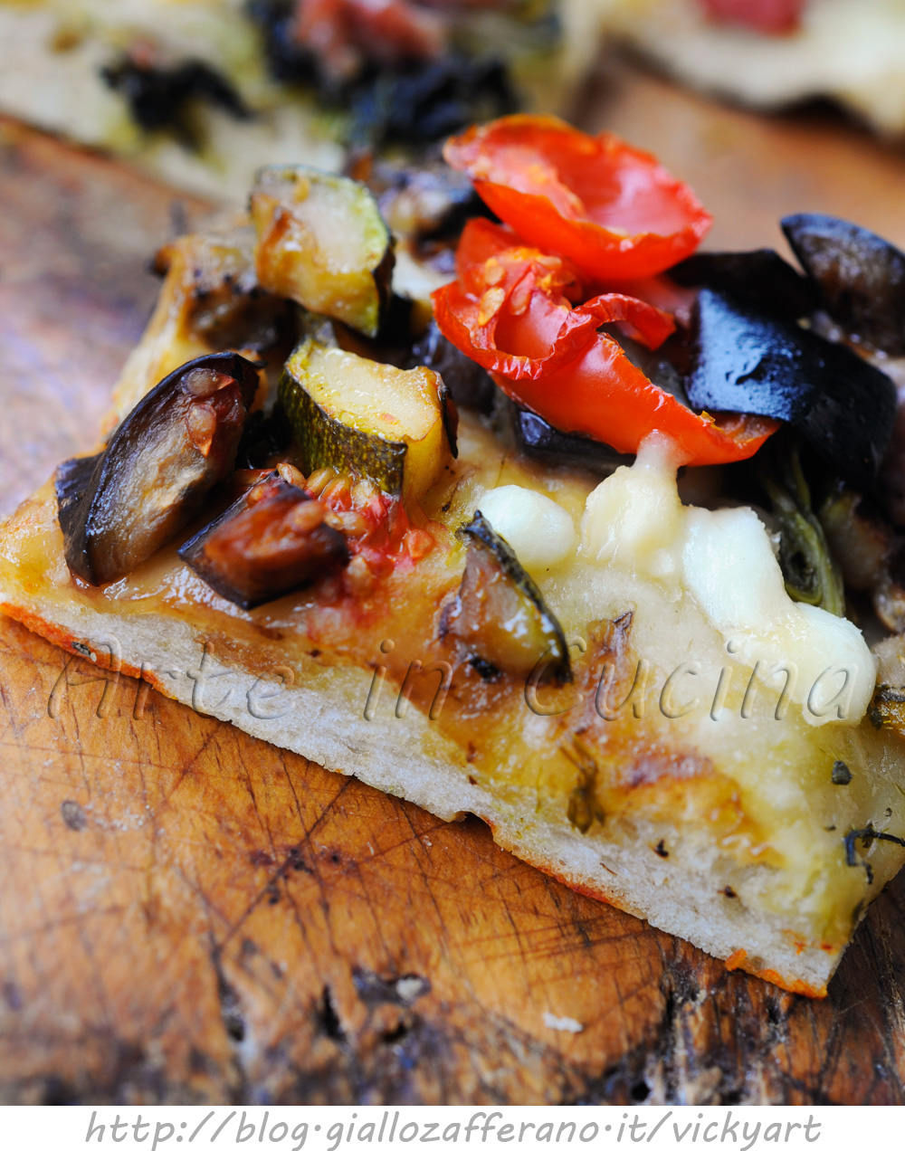 Pizza ortolana a lievitazione lenta bassa e soffice vickyart arte in cucina