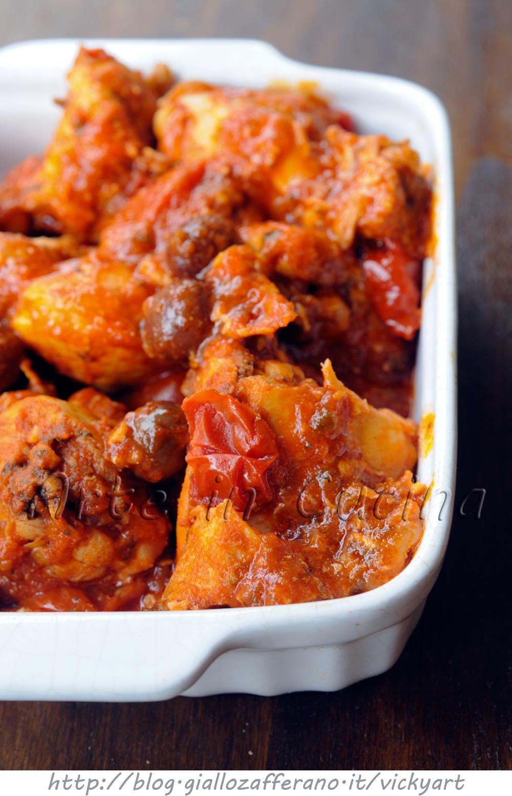 Pollo al pomodoro e olive in tegame vickyart arte in cucina