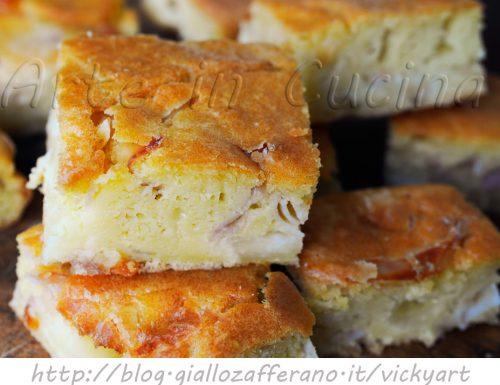 Torta rustica veloce con formaggio e prosciutto