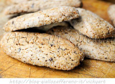 Biscotti con cioccolato e arancia anche bimby
