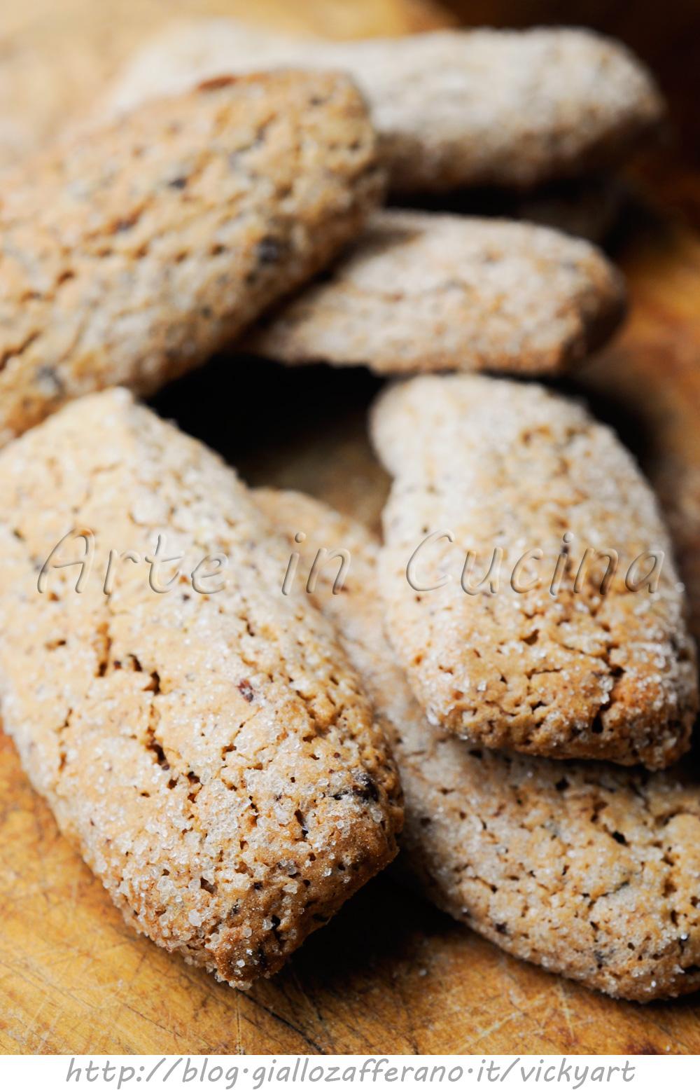 Biscotti con cioccolato e arancia anche bimby vickyart arte in cucina