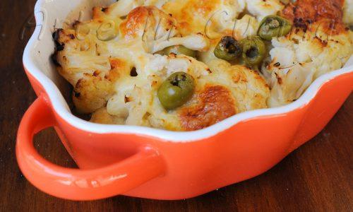 Cavolfiore con mozzarella al forno