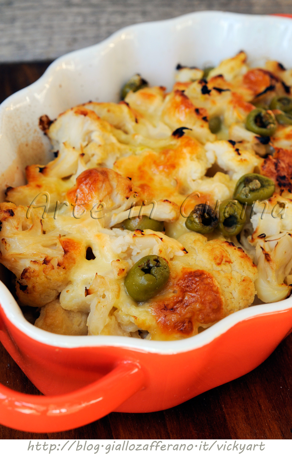 Cavolfiore con mozzarella al forno vickyart arte in cucina