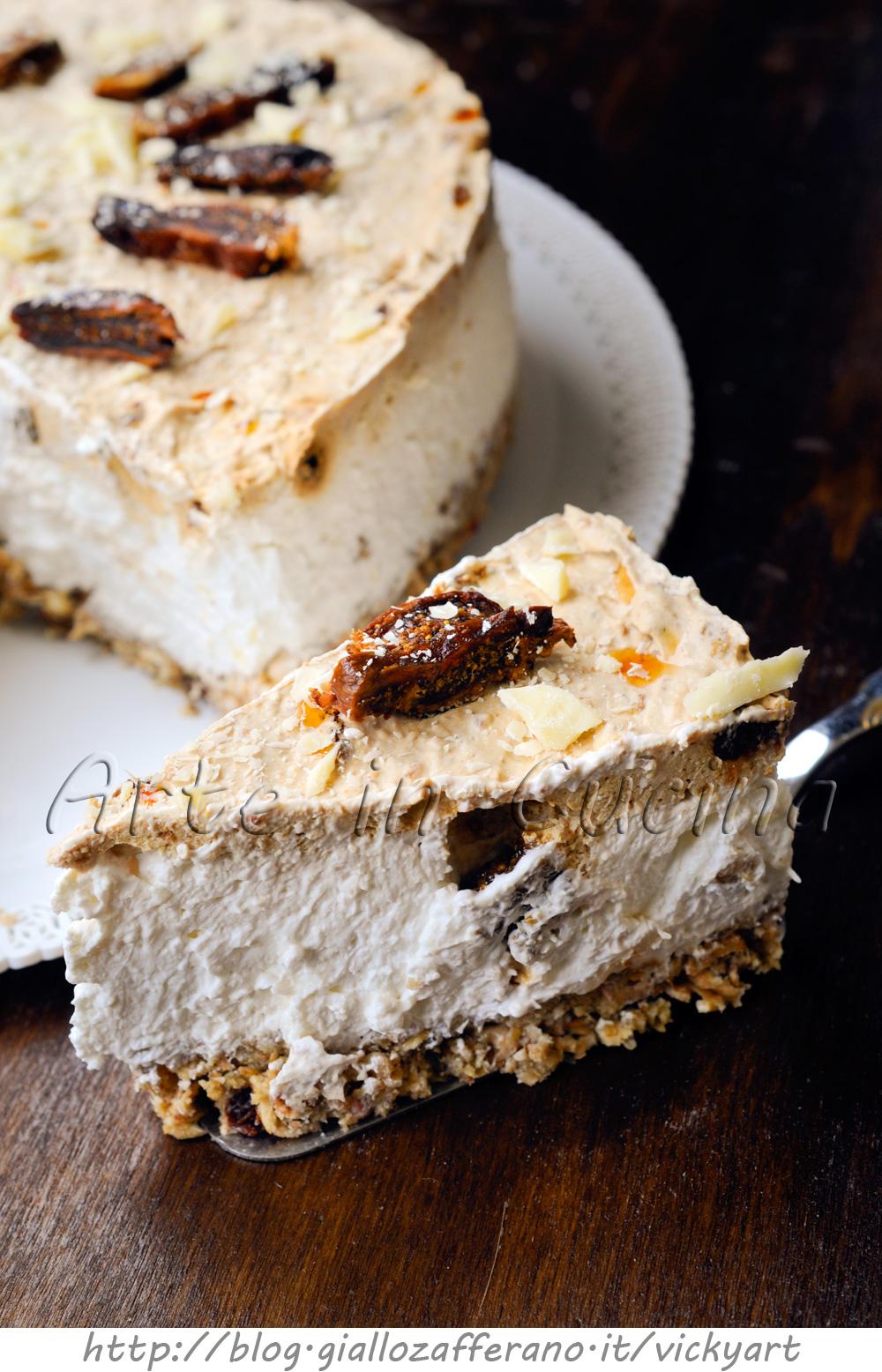 Cheesecake con cereali e fichi secchi alla ricotta vickyart arte in cucina